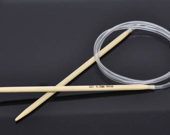 80cm circular knitting needles made of bamboo 4.0