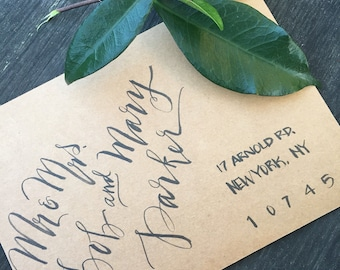 Budget calligraphy, hand lettering, calligraphy invitations, discount calligraphy, modern calligraphy
