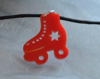 Red Rollerskate Necklace // Roller Derby Necklace // Roller Girl Necklace //  Roller Disco // Derby Girl