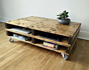 Pallet Coffee Table. Rustic Coffee Table, Industrial Coffee Table, Office Table