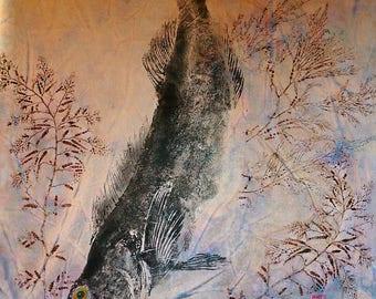 gyotaku, fish prints, lingcod