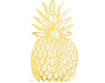 Pineapple Napkins - Foil Napkins - Pineapple Party - Pineapple Flamingo - Bachelorette Party - Tropical Party - Hawaii Party - Luau Party