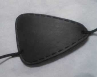 Black Leather Solid Snake Metal Gear style eyepatch