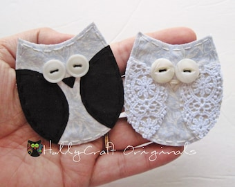 Wedding Owls, Bride and Groom Owls, Wedding Applique owl, Marriage Appliques, Owl Applique, Owls, Wedding,Just Married,Patch,Made to order