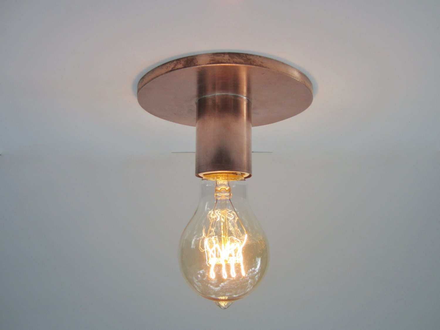 Flush mount ceiling light or wall sconce industrial lighting zoom aloadofball Image collections