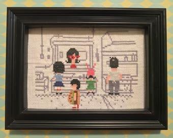 Bob's Burgers 8-Bit Restaurant Scene Cross Stitch