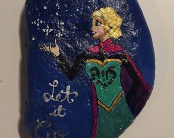 Disney's Frozen - Elsa Painted Rock
