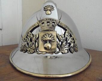 Complete French Vintage Fireman's Helmet Model 33