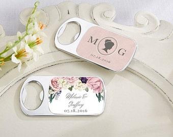 Personalized Bottle Opener, English Garden Wedding Favors, Custom Wedding Bottle Opener (11141EG)