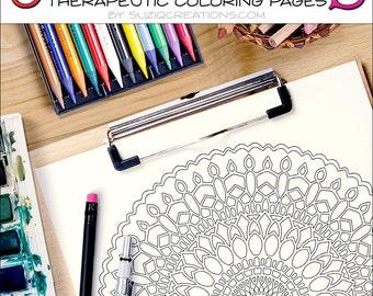 Twenty-Five Revolutions Mandala Coloring Page OrnaMENTALs #0013 PDF