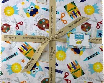 "Riley Blake Fabric Crayola Crayon Colorfully Creative (42) 10"" Layer Cake Square"