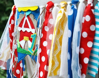 Circus Birthday Banner, Carnival Birthday Banner, Circus Birthday Crown, Circus High Chair, Carnival Highchair Banner, First Birthday Banner