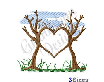 Tree Heart - Machine Embroidery Design