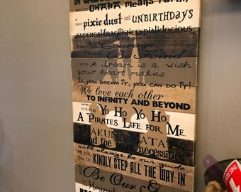 Disney Quotes We Do Disney Planked Wood Browns