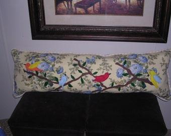handmade bird pillow