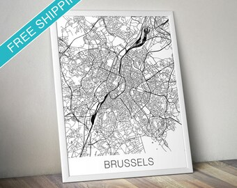 Brussels Map Print