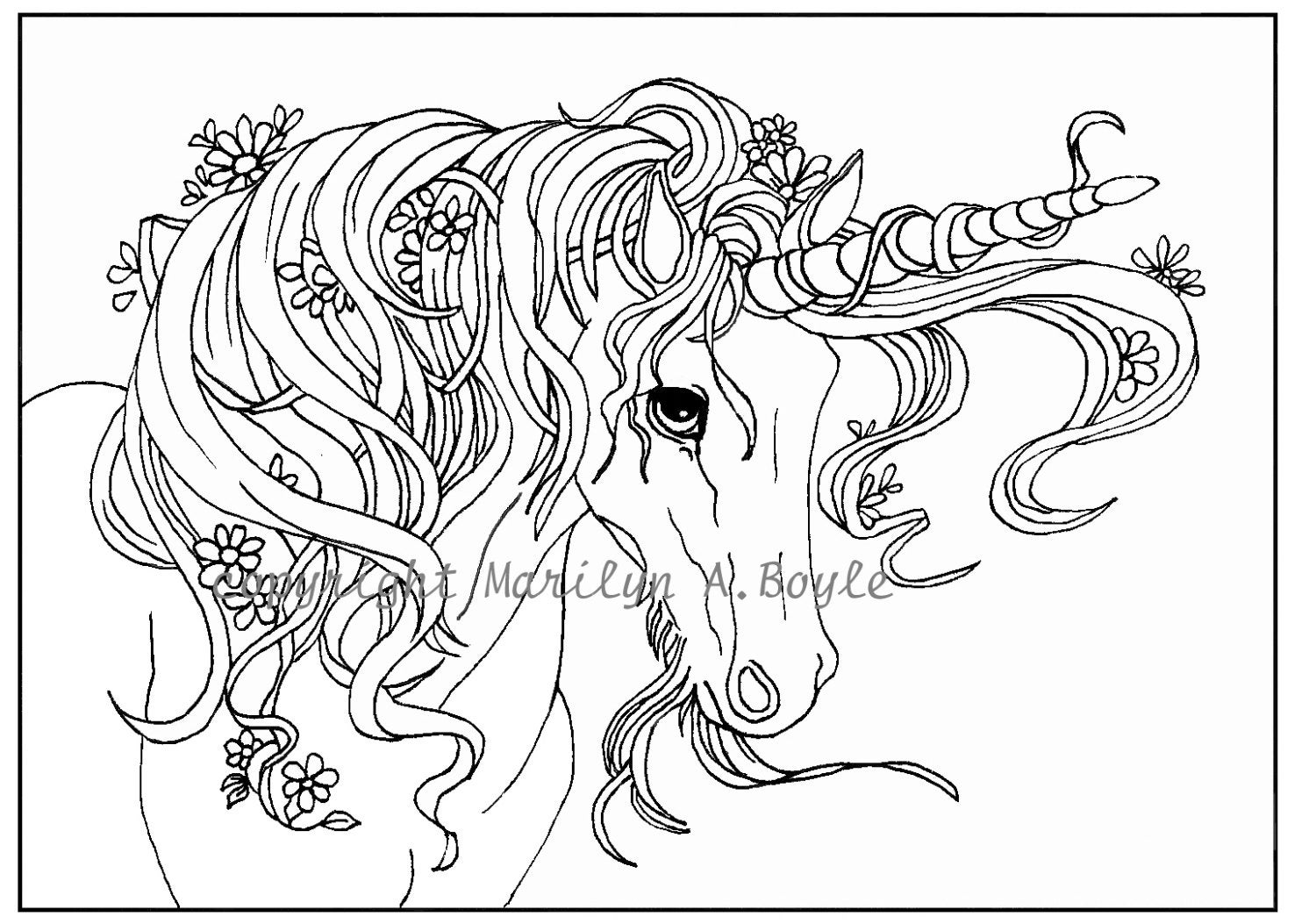 zoom - Printable Unicorn Coloring Pages