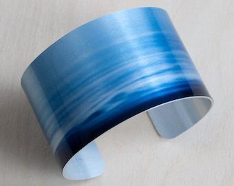 NASA Night Clouds - Aluminum Cuff Bracelet - Photography - Handmade - Unique Gift - Wearable Art!
