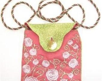 Heirloom Rose Embroidered Purse