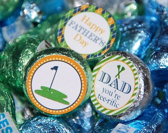 Father's Day Golf Chocolate Kiss Candy Labels | Printable | Instant Download | Tee-riffic