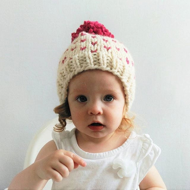 Fair Isle Hat Pattern Hat Knitting Pattern Little Hearts