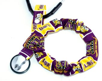 Stethoscope Cover, Stethoscope Covers,  Nursing Student, Student Nurse, Scrubs, Louisian State University, Team Sport Fabric, Football, LSU