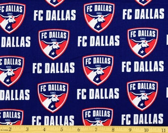 "FC Dallas Fabric MLS Soccer Fabric 58"" Wide 100% Cotton"