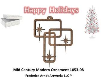 1053-8 Mid Century Modern Christmas Ornament