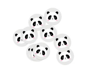 Set of 10 Panda Stickers