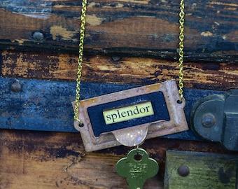 Upcycled Necklace Splendor