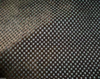 DESIGNER Otelle Petite Check Cut Velvet Fabric 10 Yards Brown