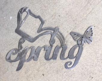 Spring metal Sign