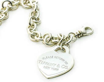 Tiffany & Co Extra Large Return To Tiffany Heart Tag Bracelet Sterling Silver