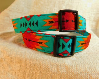 South West Dog Collar / Southwestern / Native American Dog Collar / First Nations / Tribal Dog Collar / Male Dog Collar / Collar for Boy Dog