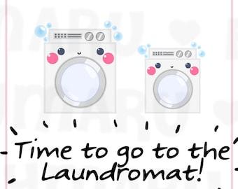 Washing Machine / Laundry Day || Planner Stickers, Cute Stickers for Erin Condren (ECLP), Filofax, Kikki K, Etc. || DPS118