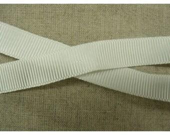 Ribbon grosgrain decorative - 15 mm - white