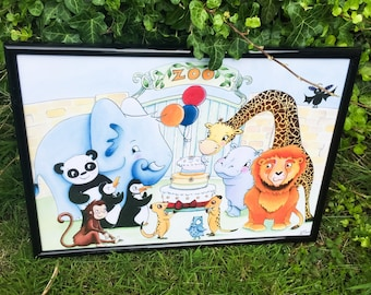 Zoo Party - A3 Print for children and grown ups too!