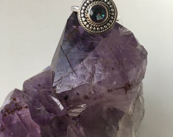 Mystic Topaz Crystal Ring