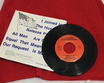 45 Record June Wade And The Country Congregation Ayatollah, Let 'Em Go! 1980 with slip cover Rare Iran Hostage US Propaganda