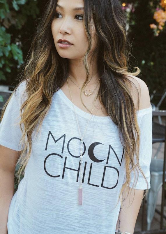 MOON CHILD Off Shoulder Tshirt, Moon Child Tee, Moon Child, Stay Wild Moon Child, Moon Child Shirt, Moon Child T, Moon Child T, Moon Child