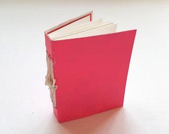 SALE! 20% off! Mini journal, journal, hand bound book, binding, pockets, book, mono-print