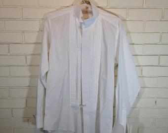 Sz 15 1/2 34/35 white tux shirt by GEOFFREY BEENE