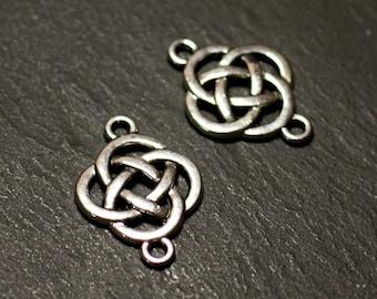 10pc - connectors beads pendants 25mm - 8741140021143 Celtic knot Silver earrings