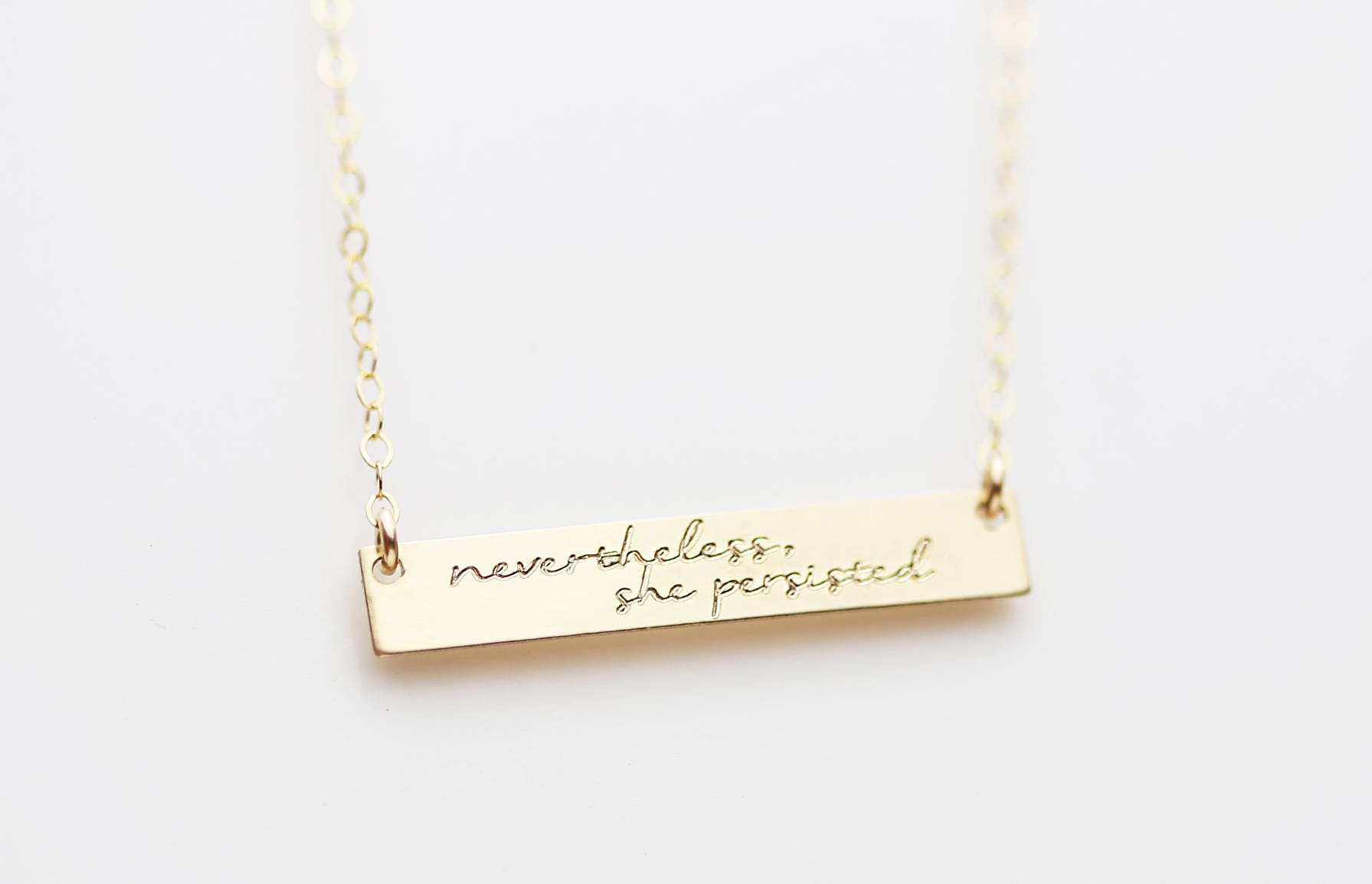 inspirational necklace nevertheless she persisted custom