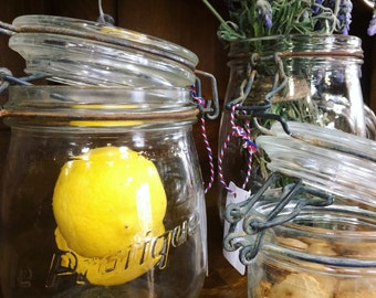 French preserving jars