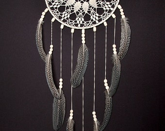 Beige Dream Catcher, Large Dream Catcher, Crochet Doily Dreamcatcher, boho dreamcatchers, Heavenly dream, wall decor, wall hanging, handmade