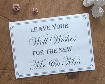 Wedding Guest Book / Wish Tree Sign