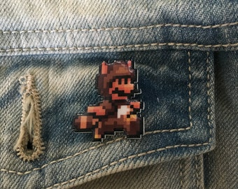 wanna buy a squirrel - super mario 3 tanooki pin