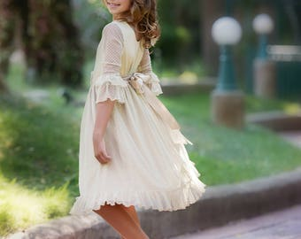 Lace Baby Dress Flower Girl Dress Rustic Lace Dress Long