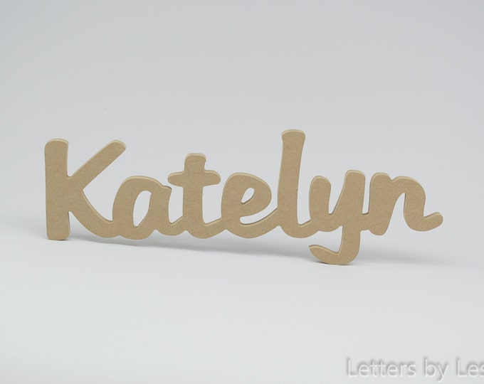 DIY Unfinished Wooden Wall Name Sign, Unfinished Wooden Letters, Wood Sign. Personalized Children's Wood Wall Name Sign, Nursery Wall Letter